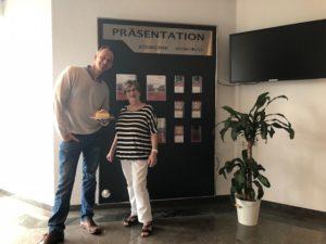 Managing Director Cornelius Arzt with Elfriede Waschke