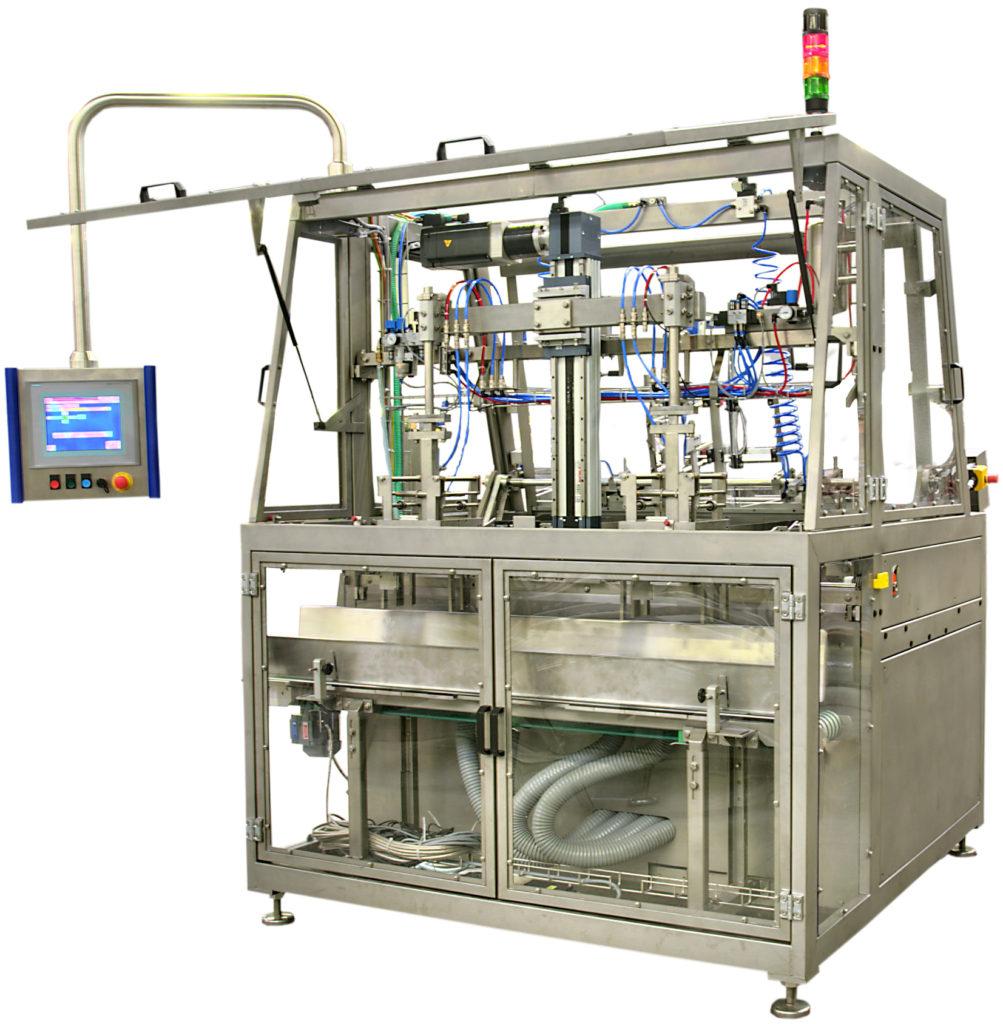 Aufrichter von ECONO-PAK zum Verpacken von Molkereiprodukten.
